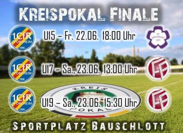 Alle Finale Jugend-Kreispokal-Finals mit dem 1. CfR