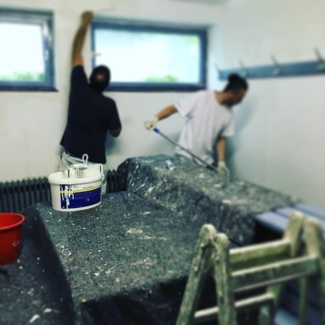 Vorbereitung Pokalspiel: Kabinen werden renoviert