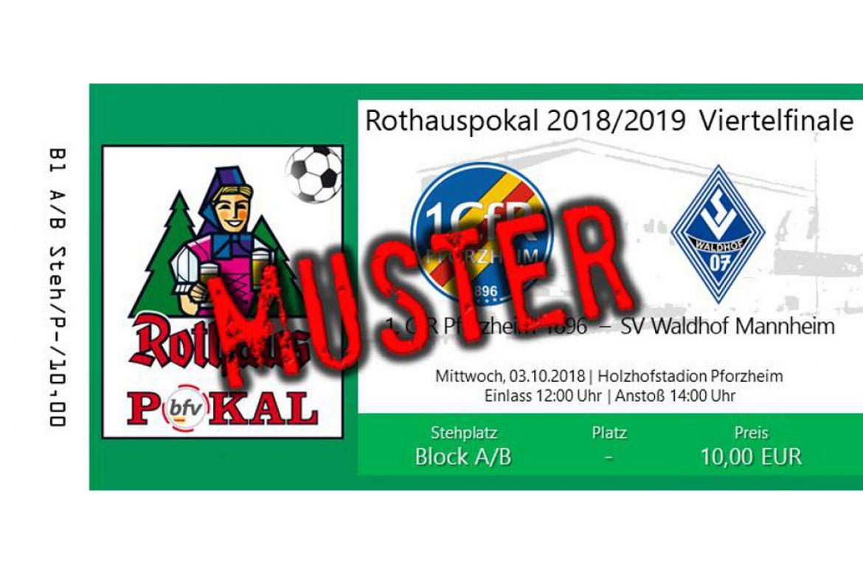 Pokal-Viertelfinale gegen Waldhof Mannheim – Vorverkauf gestartet