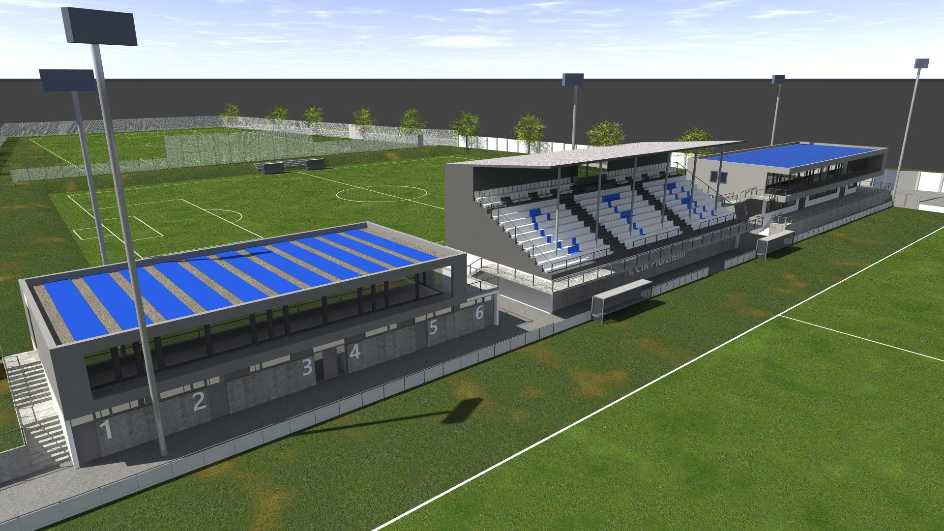 Stadionumbau Brötzinger Tal