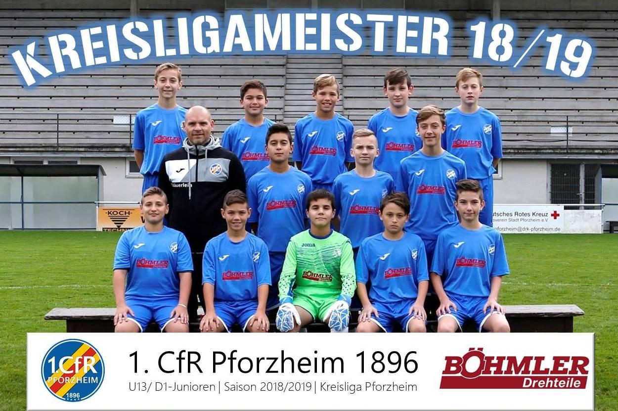 D1-Junioren feiern Kreismeisterschaft