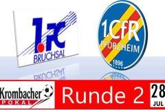 Pokalspiel 2. Runde in Bruchsal terminiert
