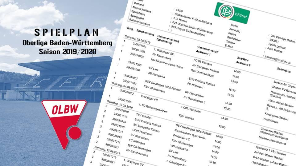 Oberliga-Spielplan ist jetzt online