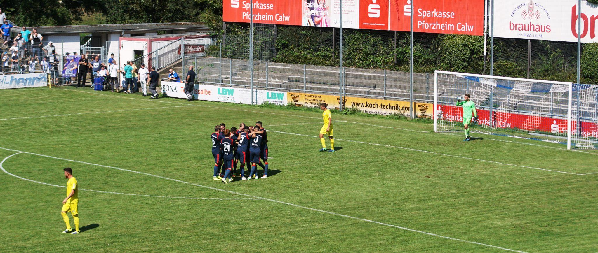 Der 1. CfR gewinnt gegen die Stuttgarter Kickers